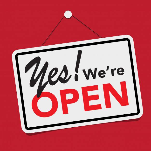 Yes! We are Open!